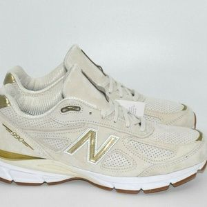 New Balance Mens 990v4 Off White Angora Running